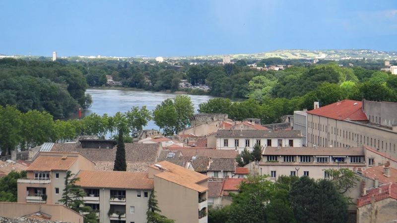 Avignon vista do Palais des Papes