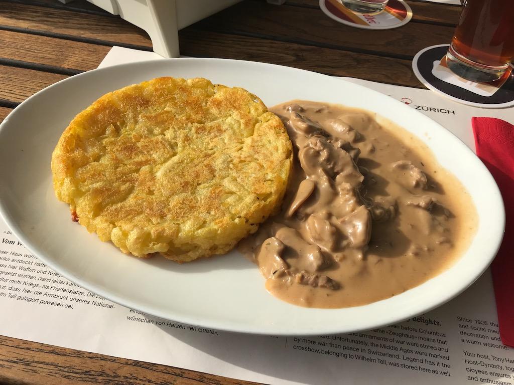 o que comer na suíça Geschnetzeltes